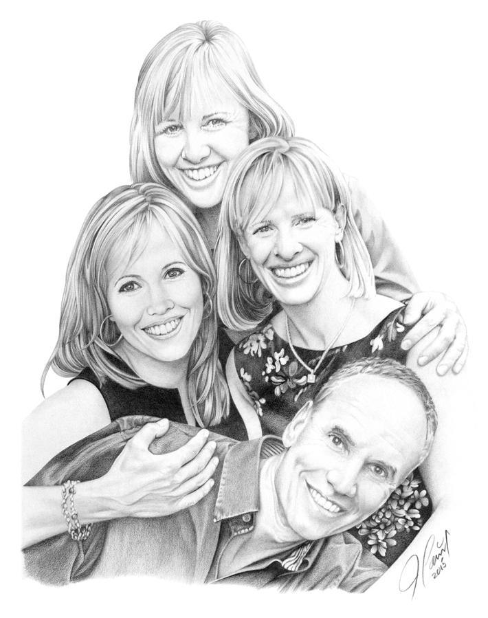 portrait dessin famille albert studio jean lacroix inc. Black Bedroom Furniture Sets. Home Design Ideas